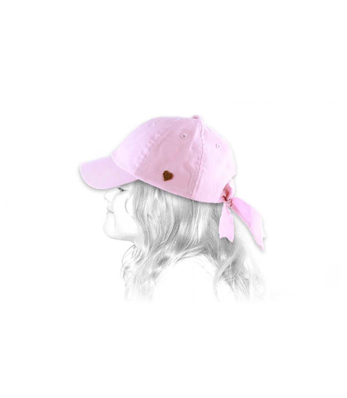 Cap Mädchen rosa Schleife
