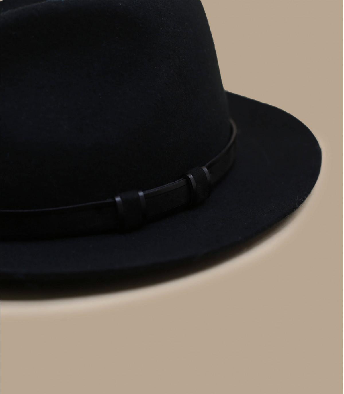 Fedora schwarz Wolle