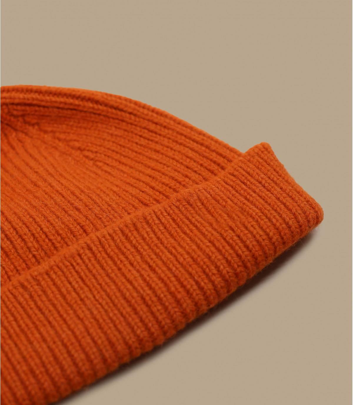 Docker Mütze orange Angorawolle