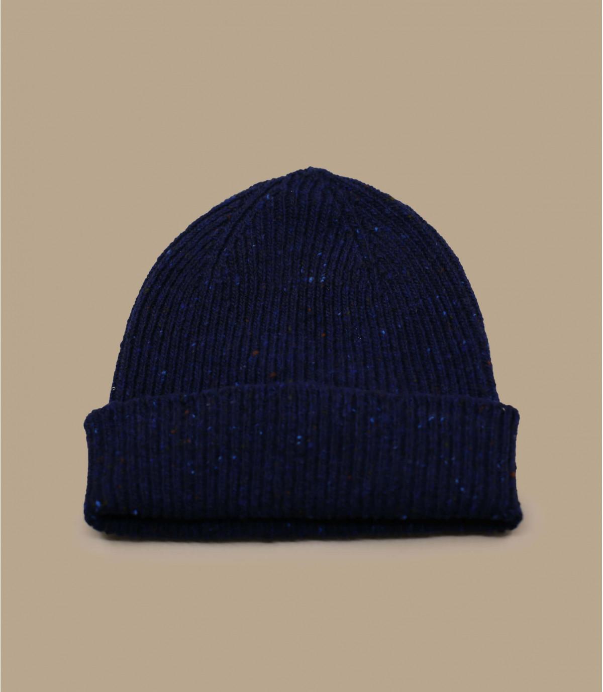 Docker Mütze Wolle  blau