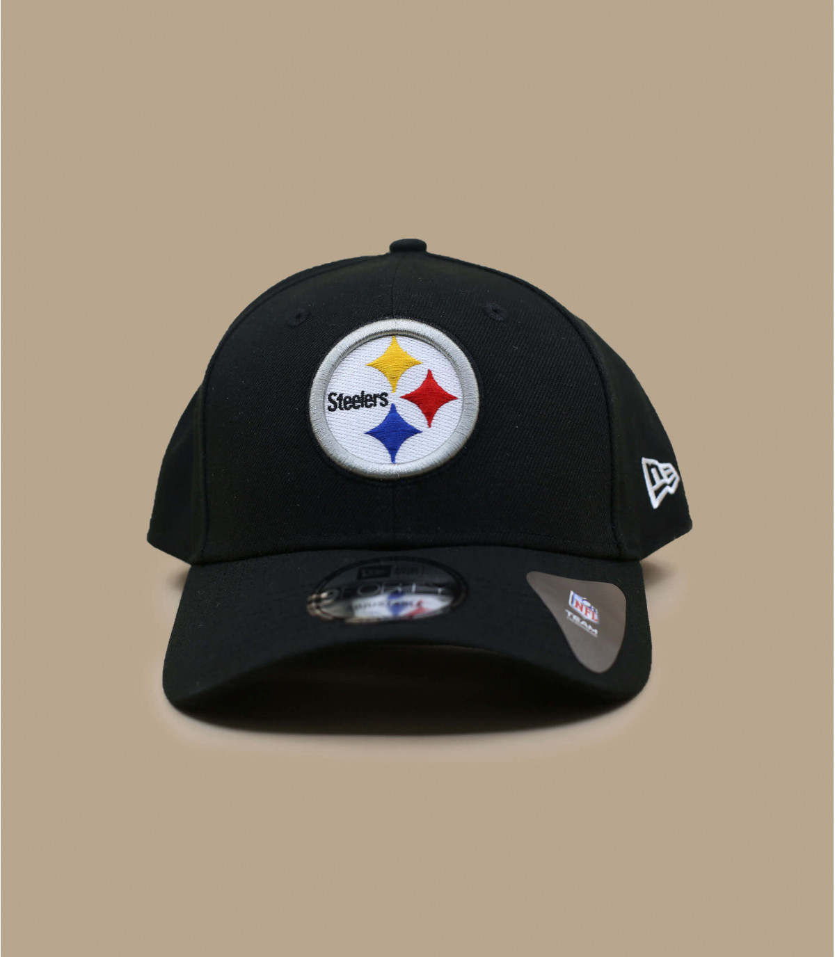 Schwarze Steelers Curved Cap
