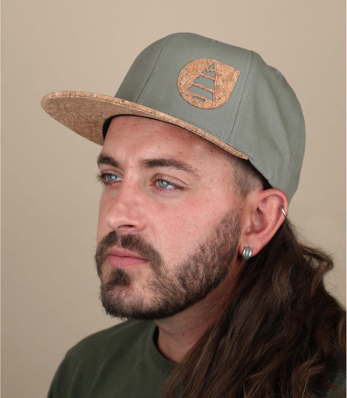 Cap Picture grün Kork