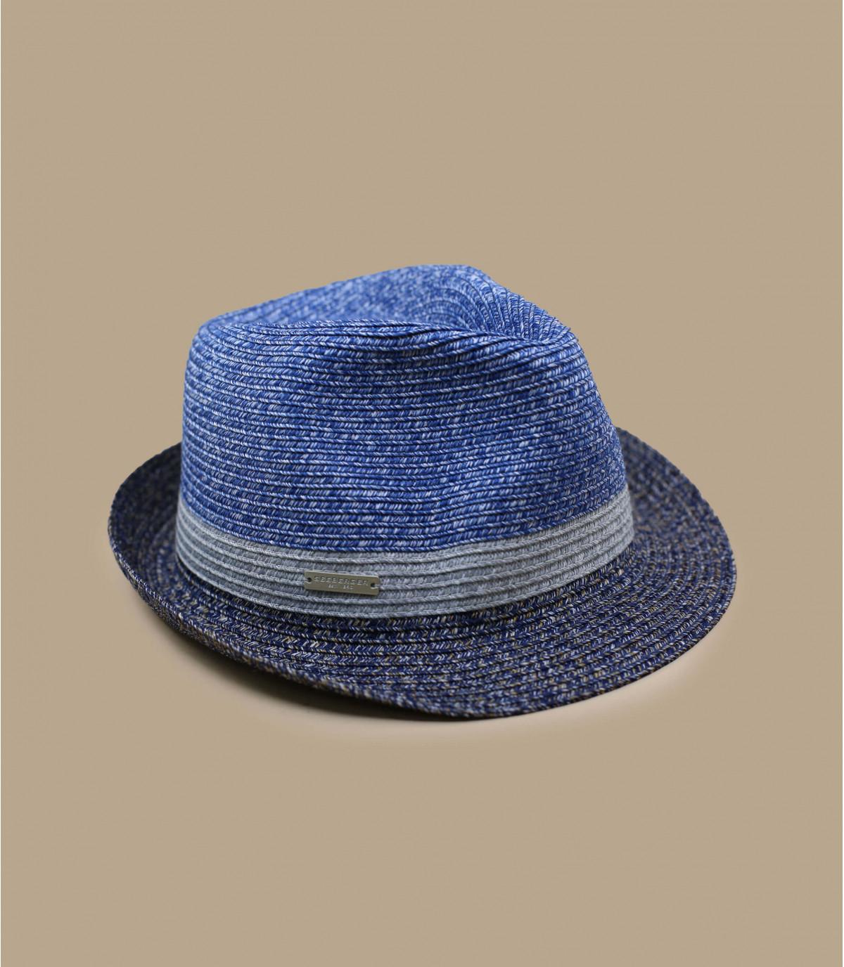 Trilby grau blau Streifen