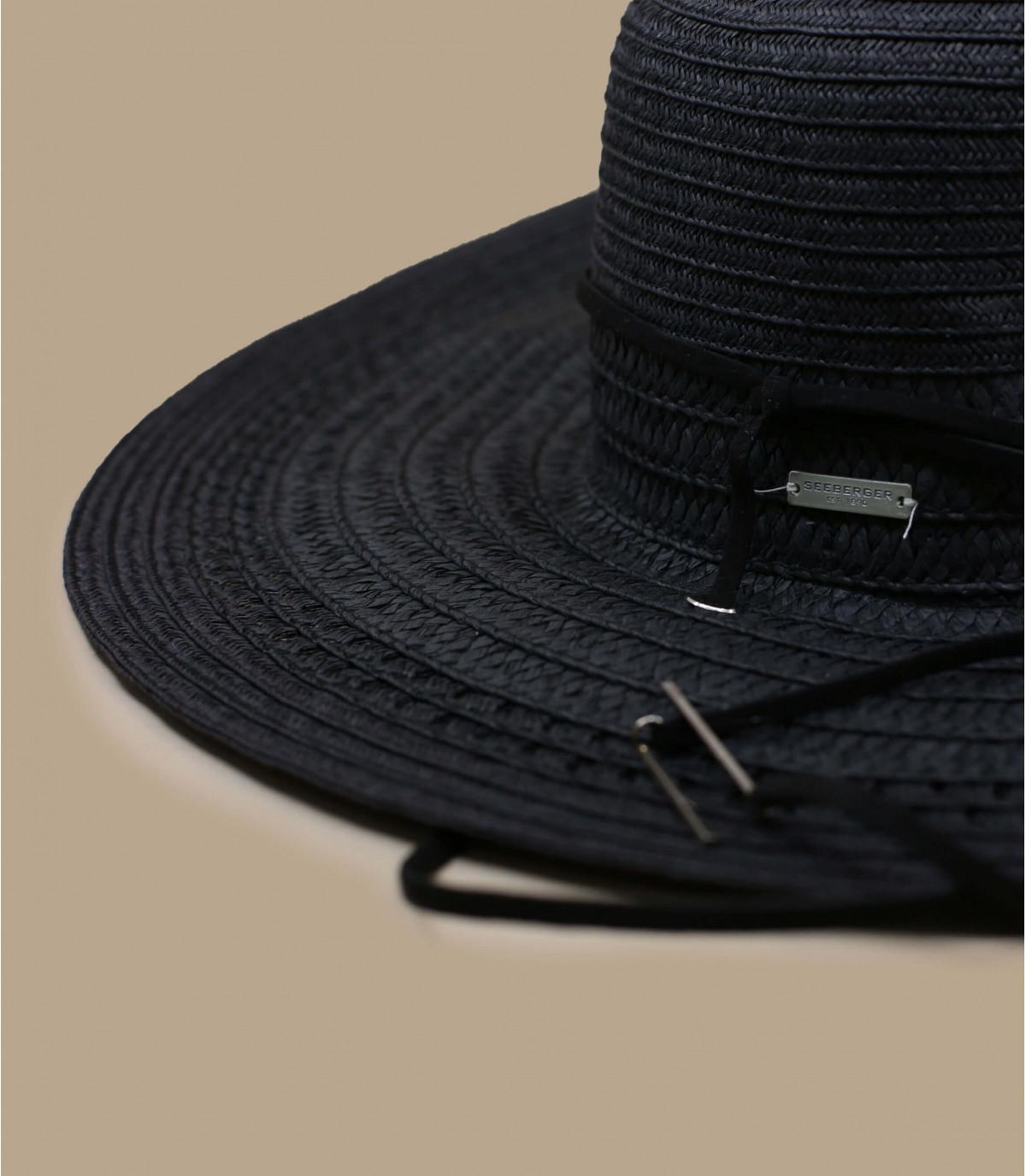 Details Fedora leather band black - Abbildung 2