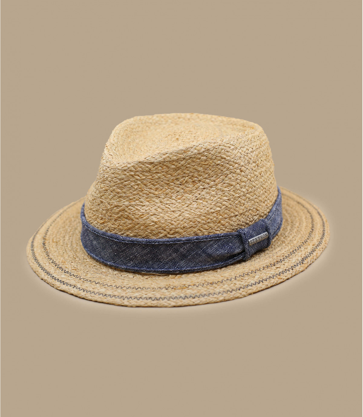 Strohhut Hutband Denim