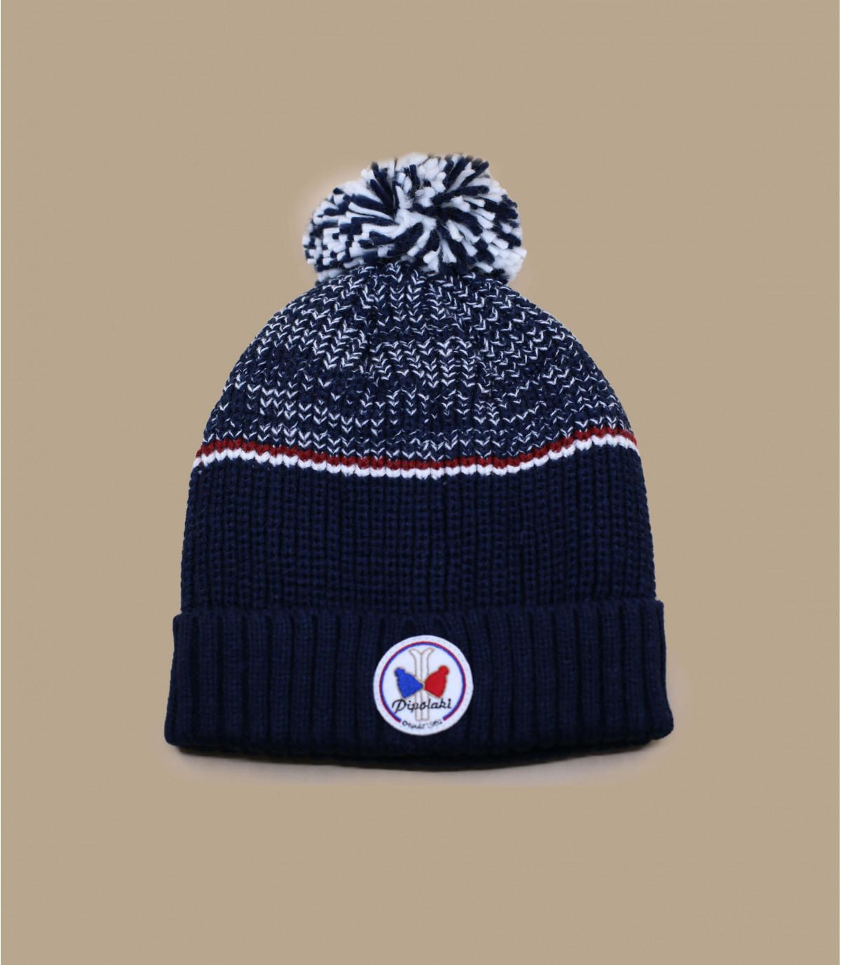 Mütze marineblau Pipolaki Bommel