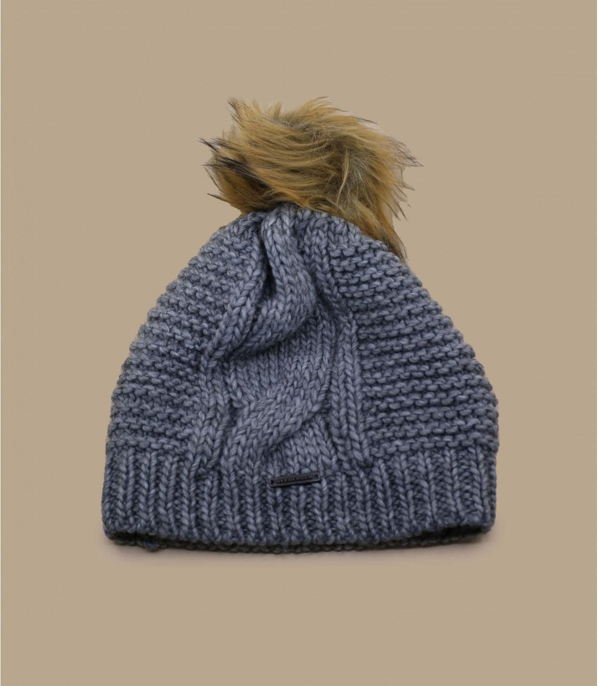 Details Bonnet long pompon gris - Abbildung 2