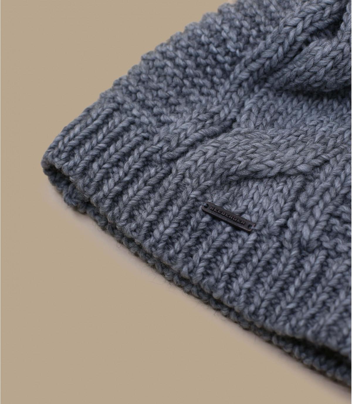 Details Bonnet long pompon gris - Abbildung 3