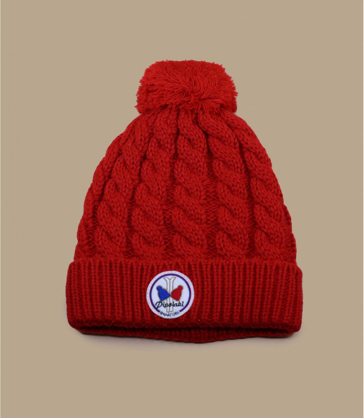 Mütze gstaad rot