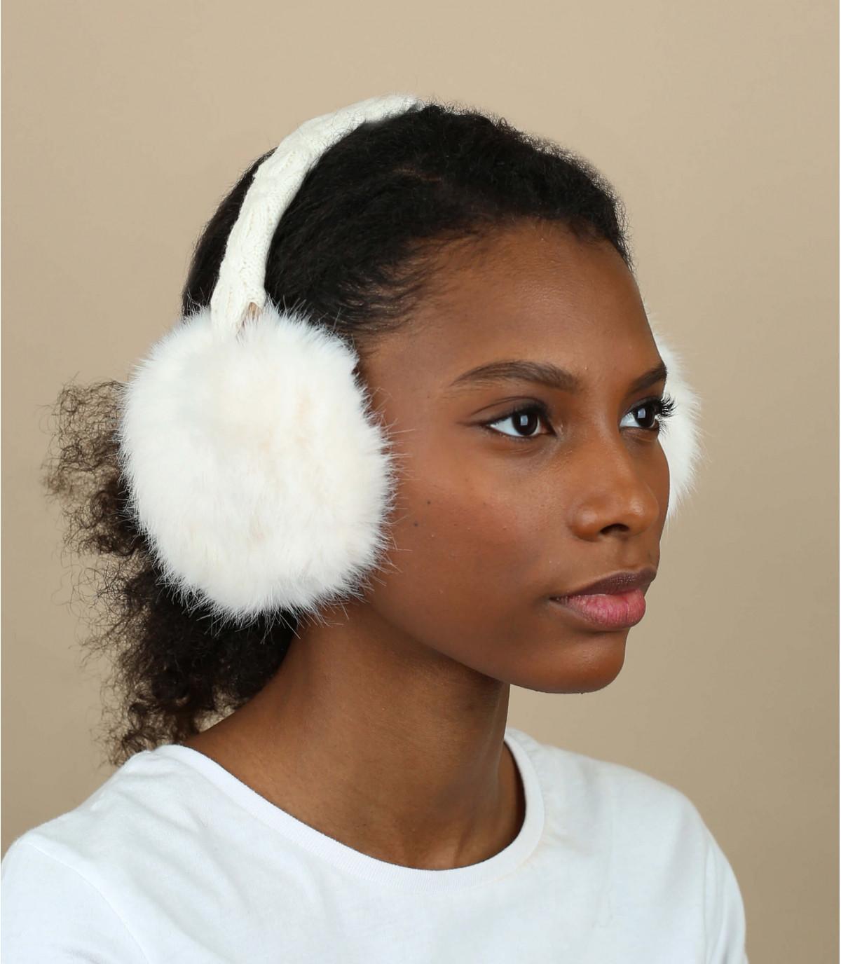 Ohrenwärmer Pelz weiß