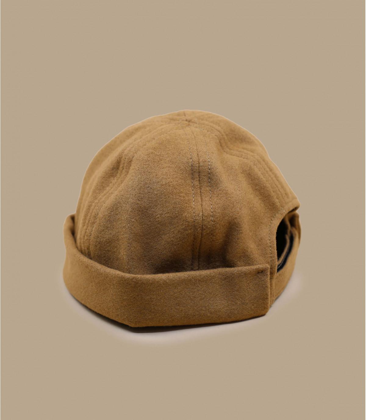 Docker Mütze beige Wolle