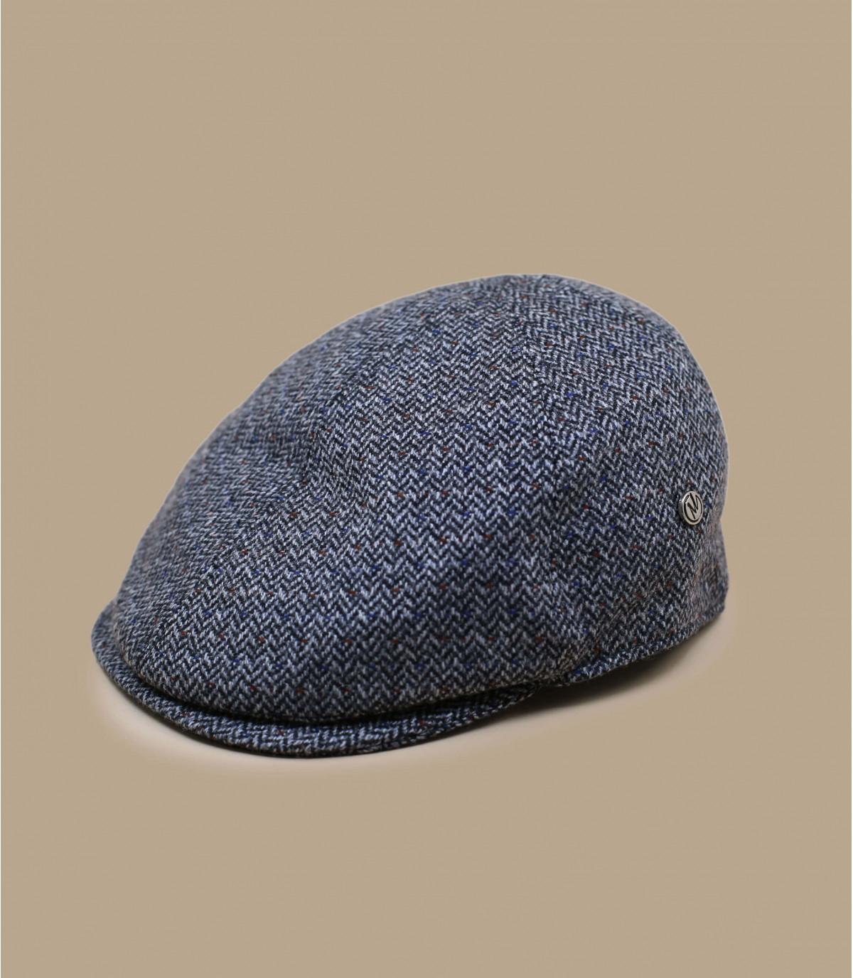 Barett-Cap grau Wolle Kaschmir
