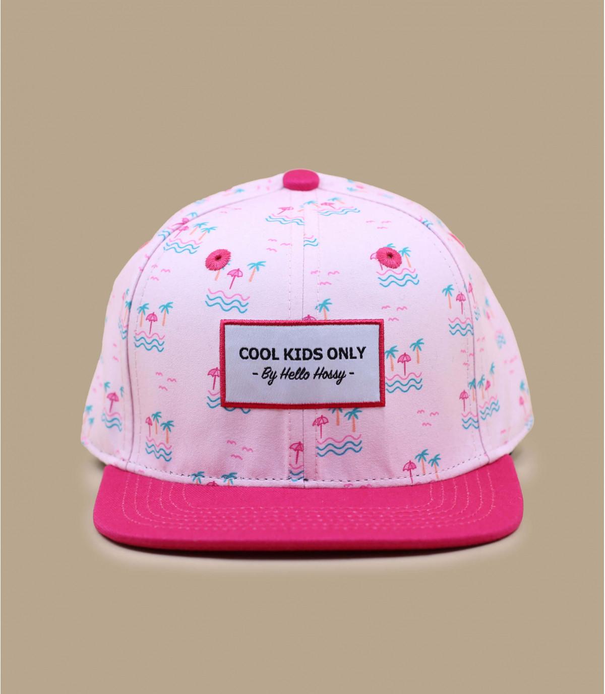 Kinder Cap Palmen rosa