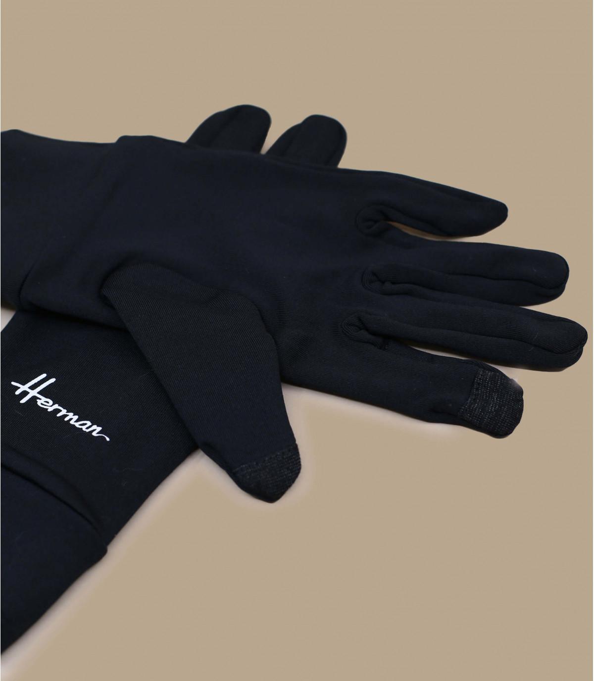 Handschuhe schwarz  Touchscreens kompatibel