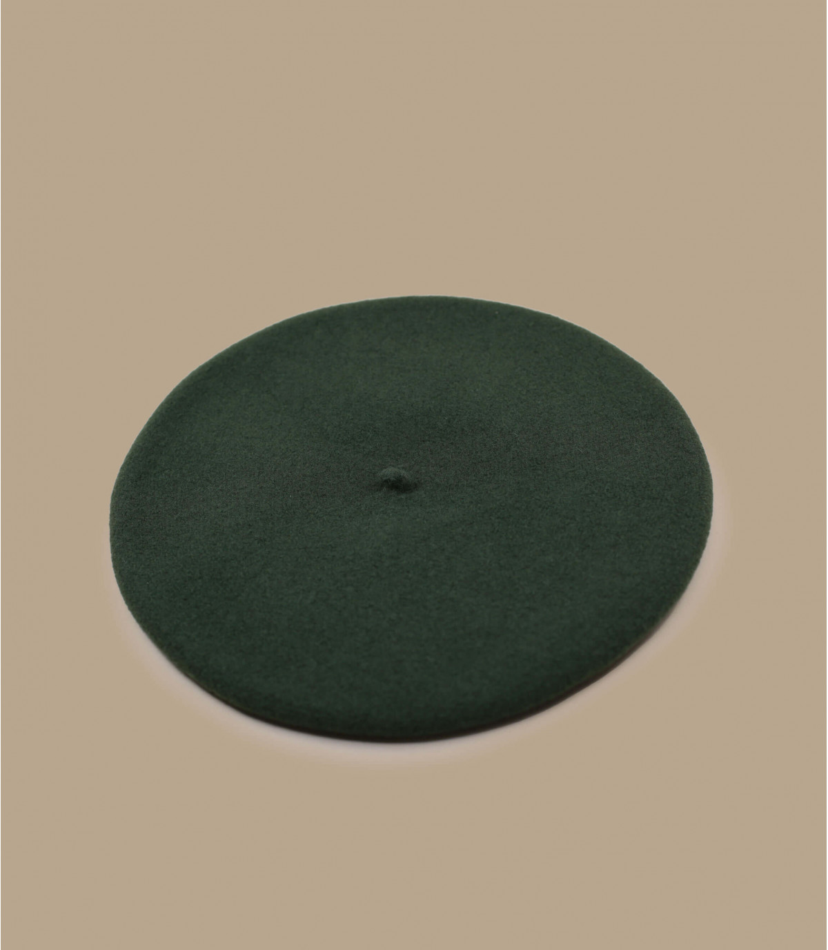 Baskenmütze Wolle khaki grün