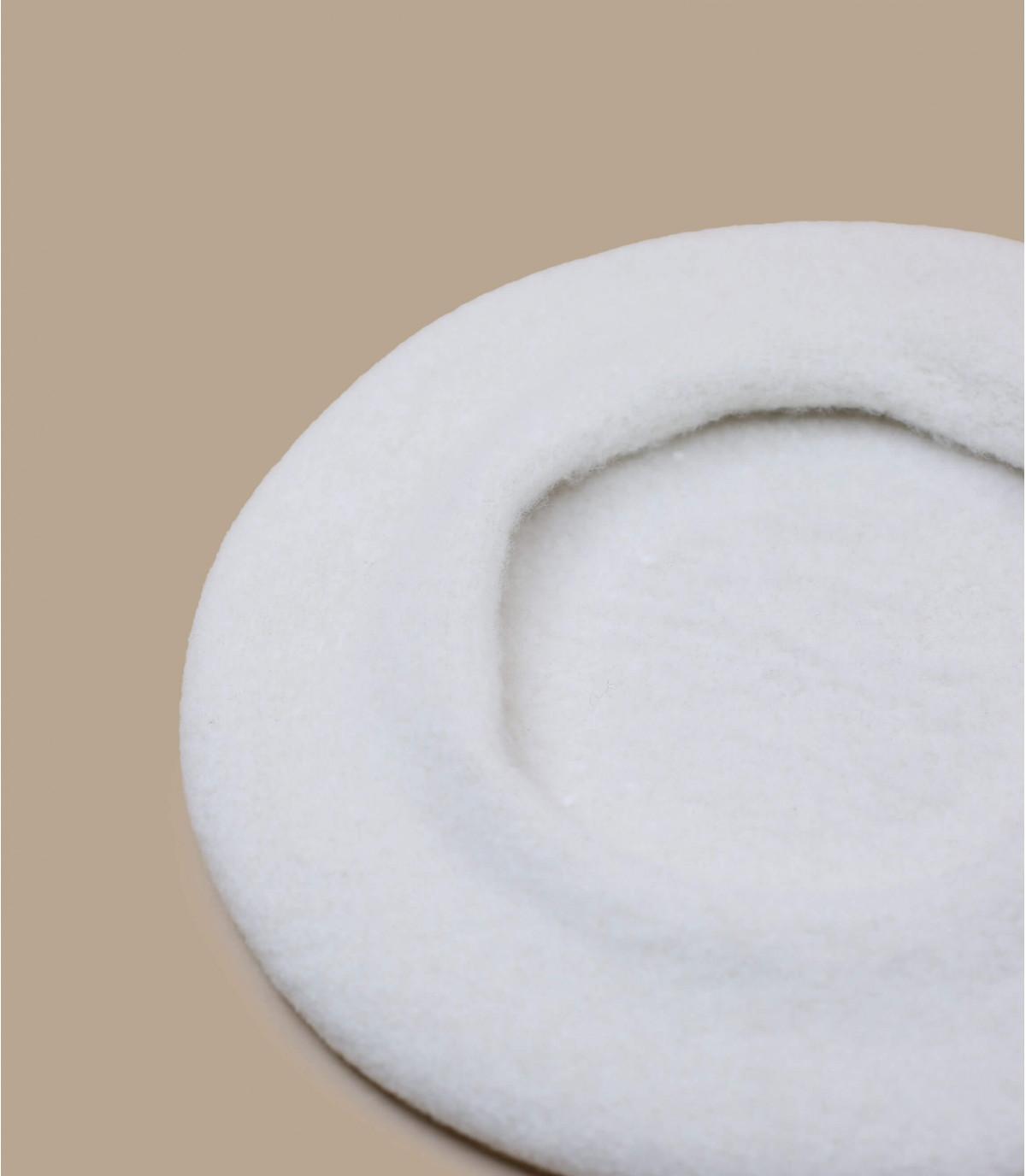 Baskenmütze weiß Wolle