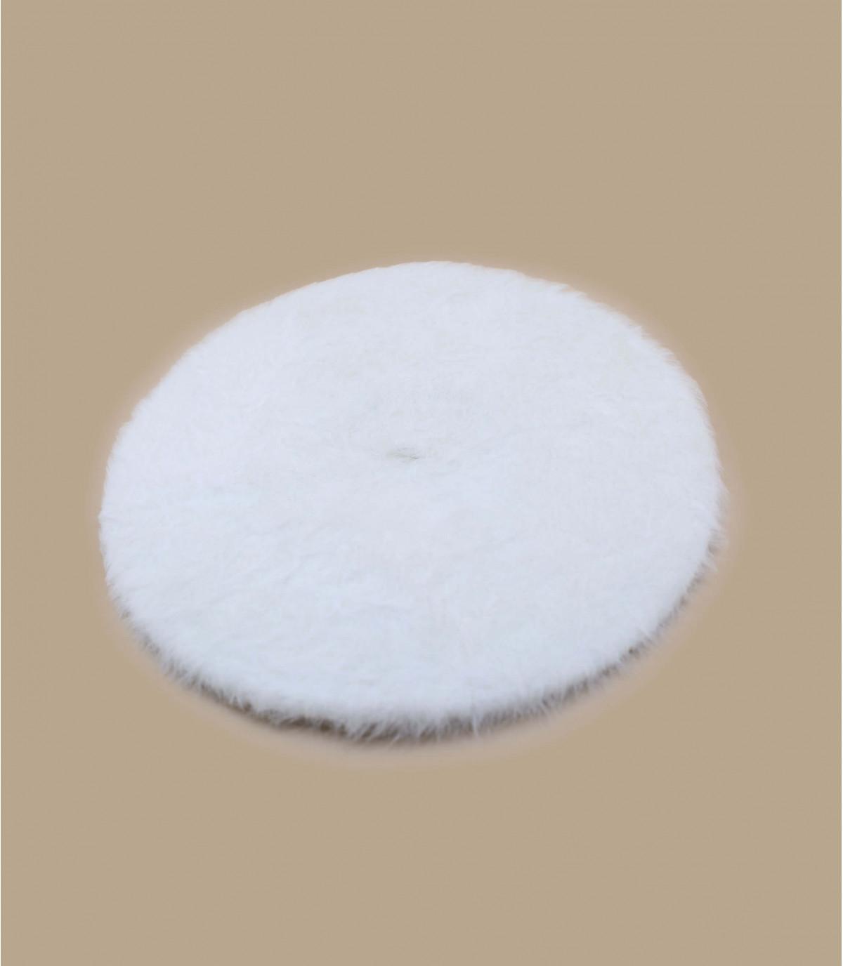 Barett Angora weiß Laulhère