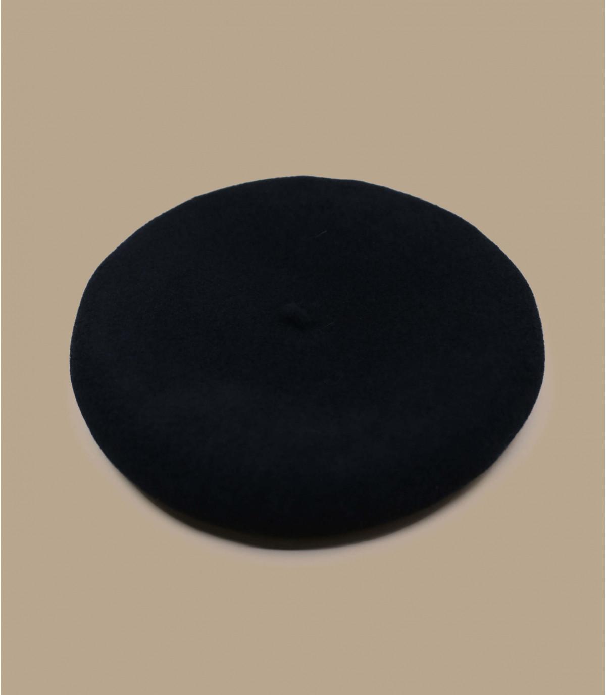 Baskenmütze schwarz Kaschmir