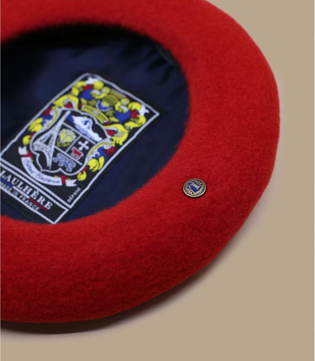 Baskenmütze rot Kaschmir