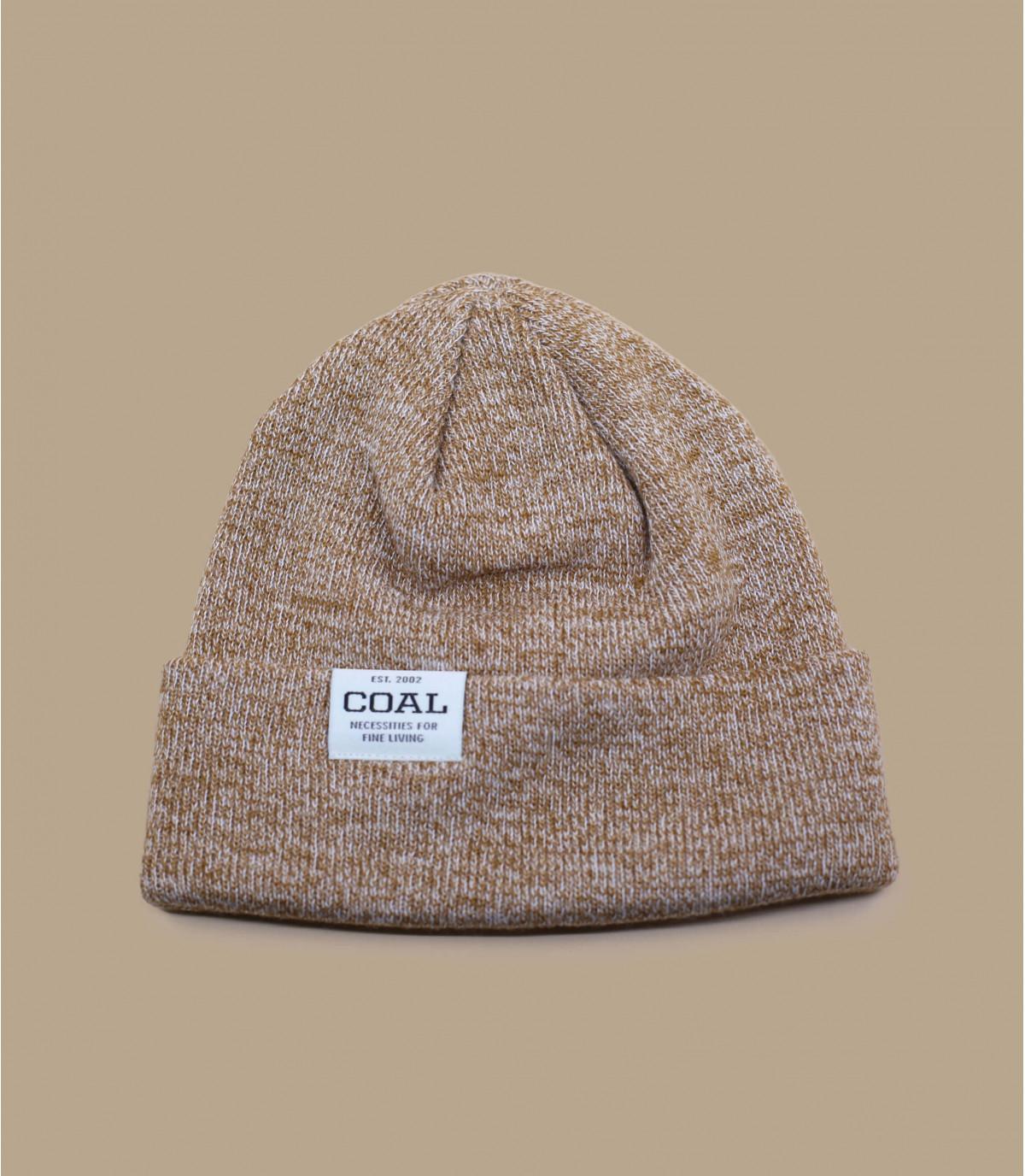 Cuff Mütze braun meliert