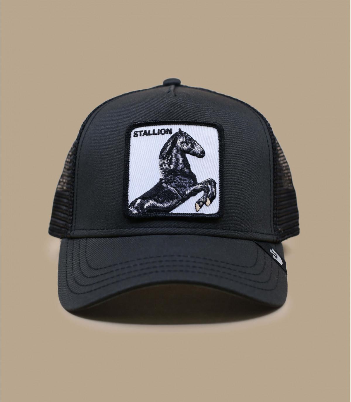 Trucker Pferd schwarz