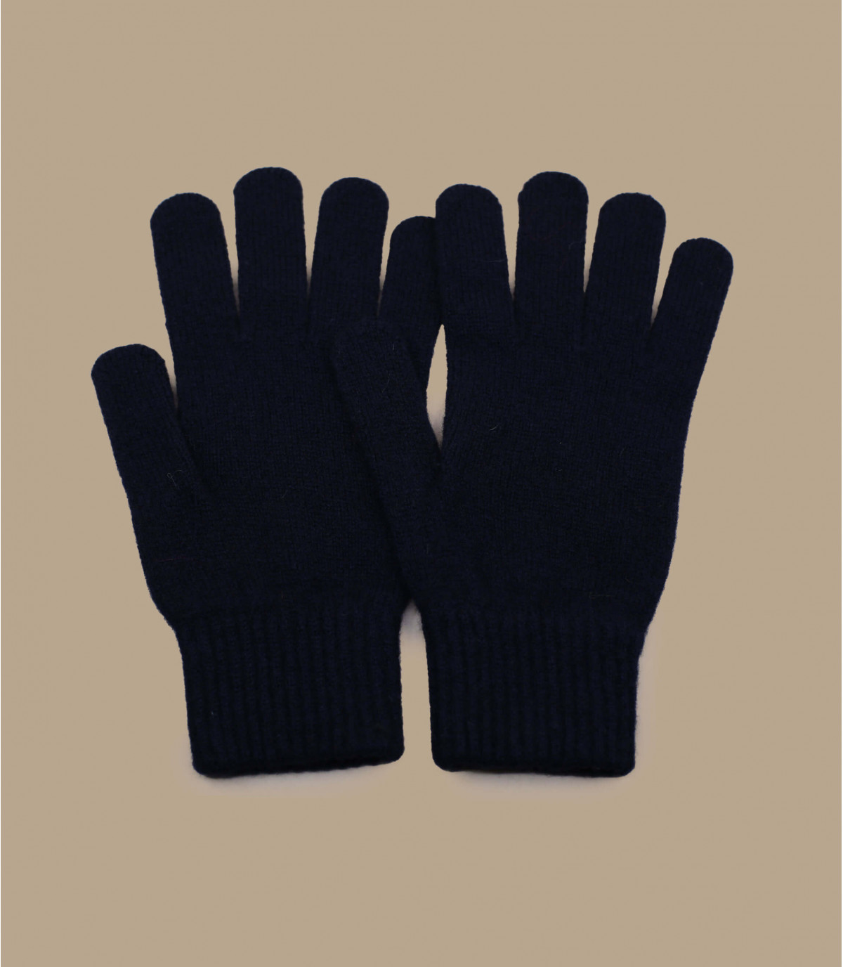Handschuhe blau Wolle