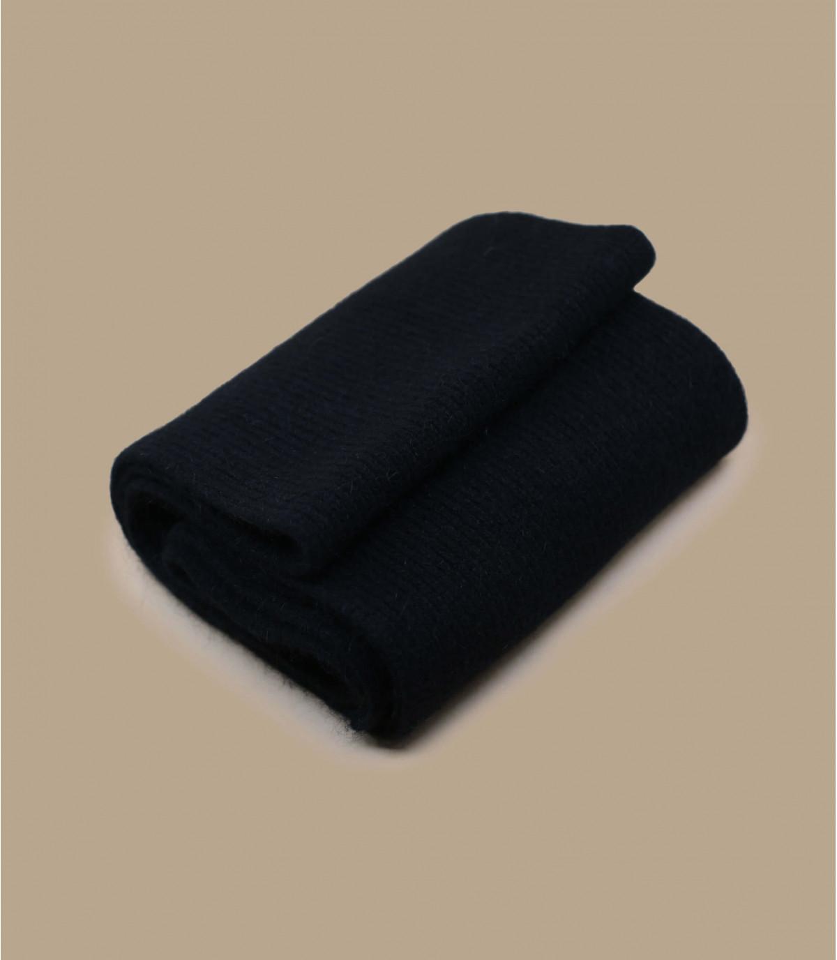 Schal schwarz Lammwolle Angora