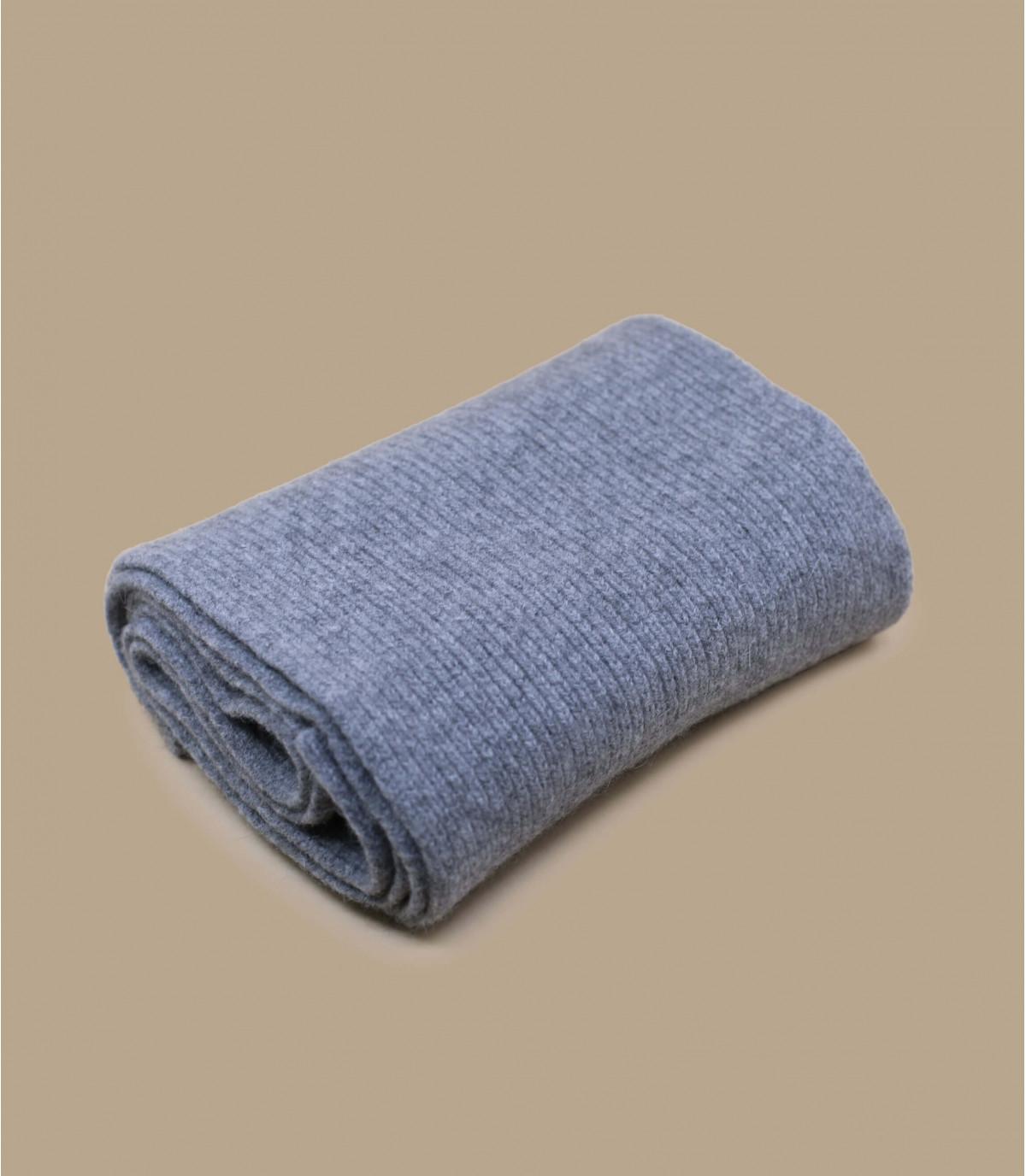 Schal grau Angora Wolle