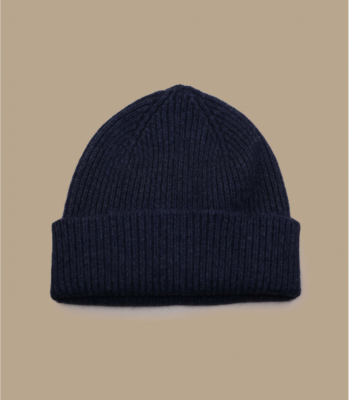 Mütze Rand Wolle Angora grau