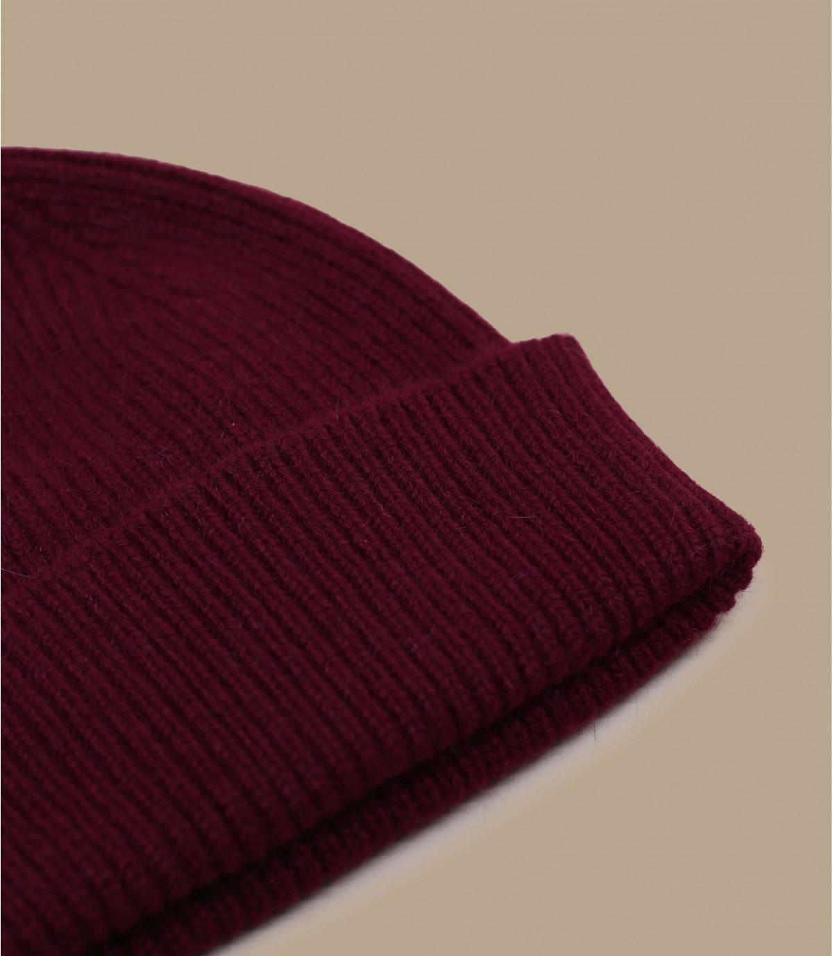 Mütze Rand bordeaux Wolle Angora