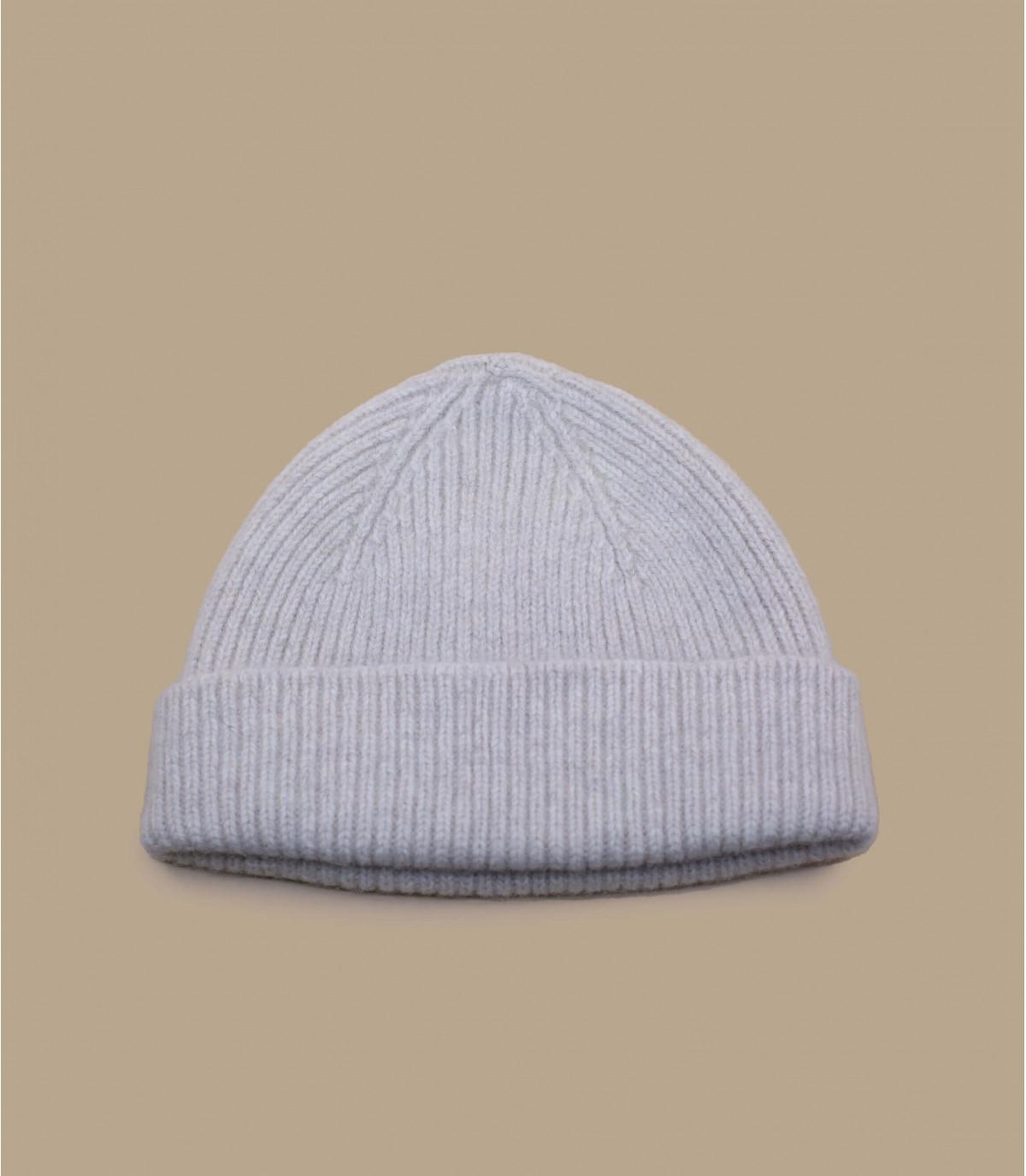 Mütze beige Wolle
