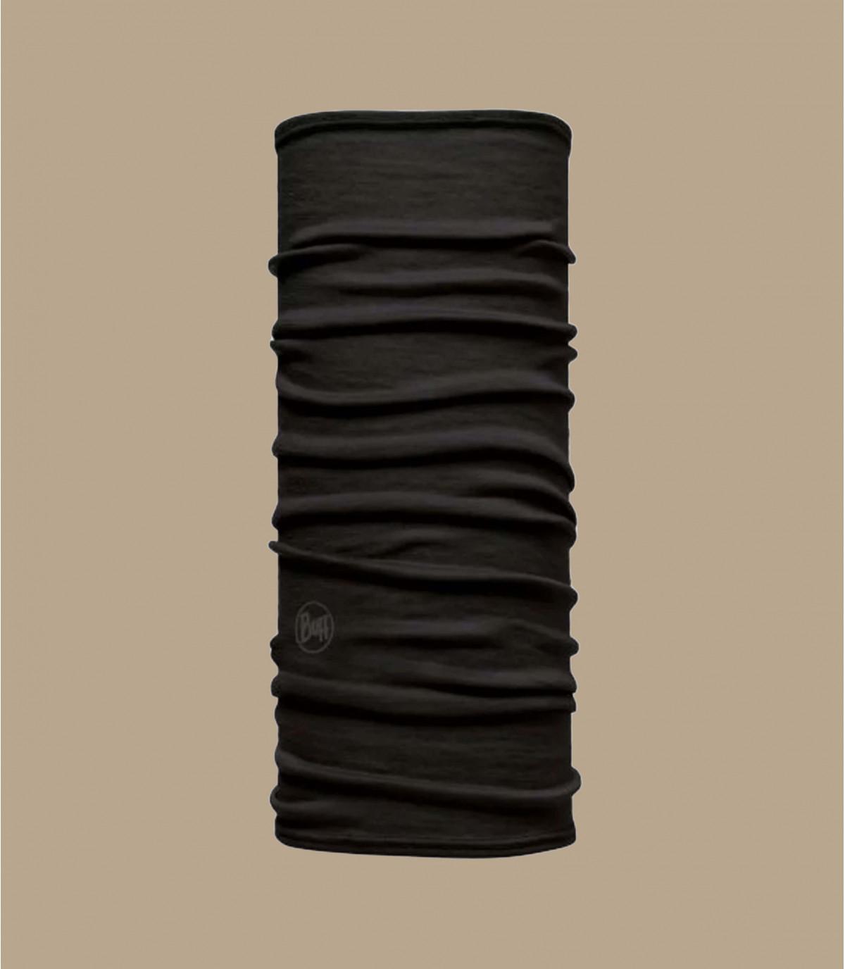 Schlauchschal Merinowolle schwarz