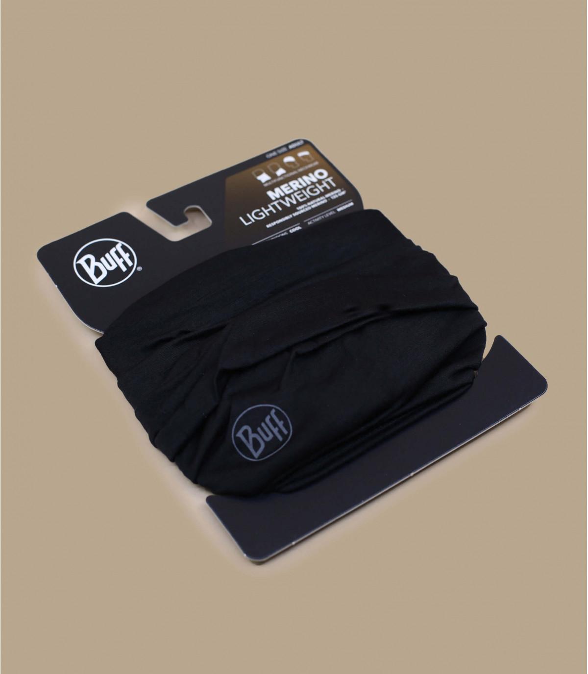 Details Lightweight Merino Wool solid black - Abbildung 2