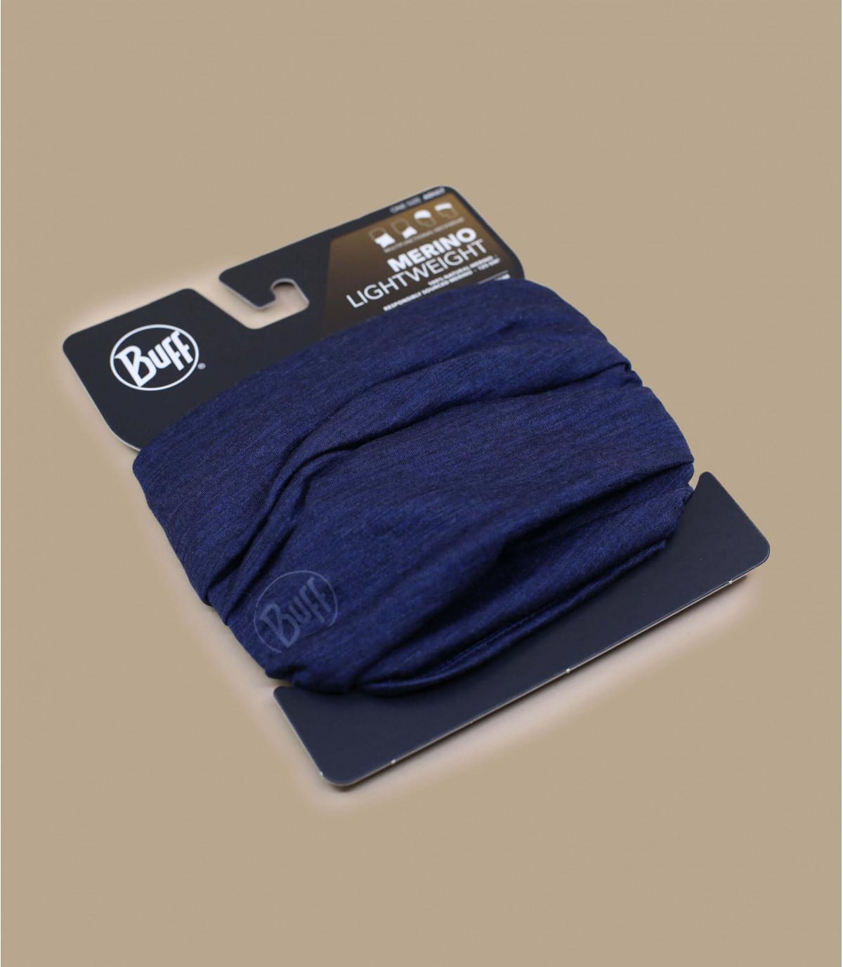 Details Lightweight Merino Wool solid denim - Abbildung 2