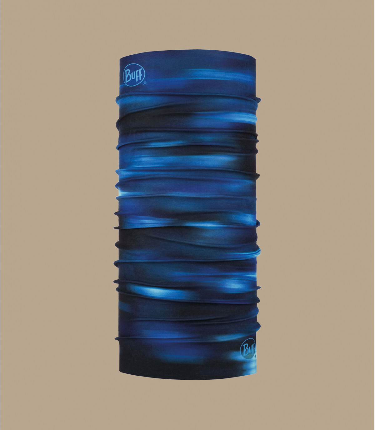 Buff bedruckt blau schwarz