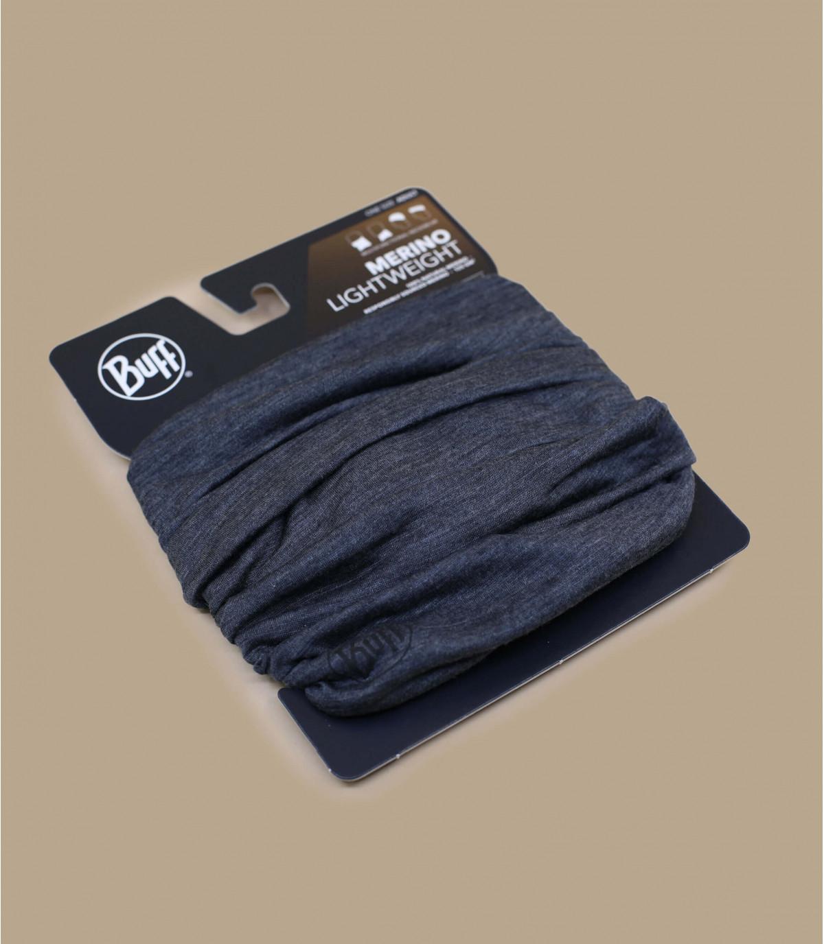 Details Lightweight Merino Wool solid grey - Abbildung 2