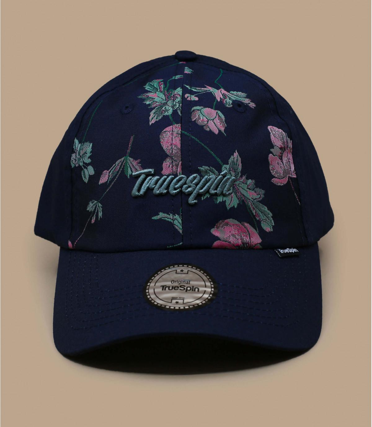 Blaue Cap Blumen Motiv
