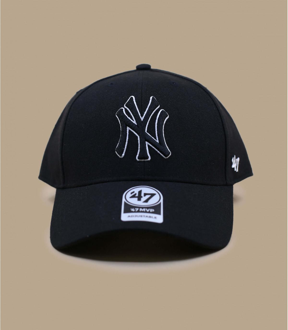 Cap NY schwarz Wolle