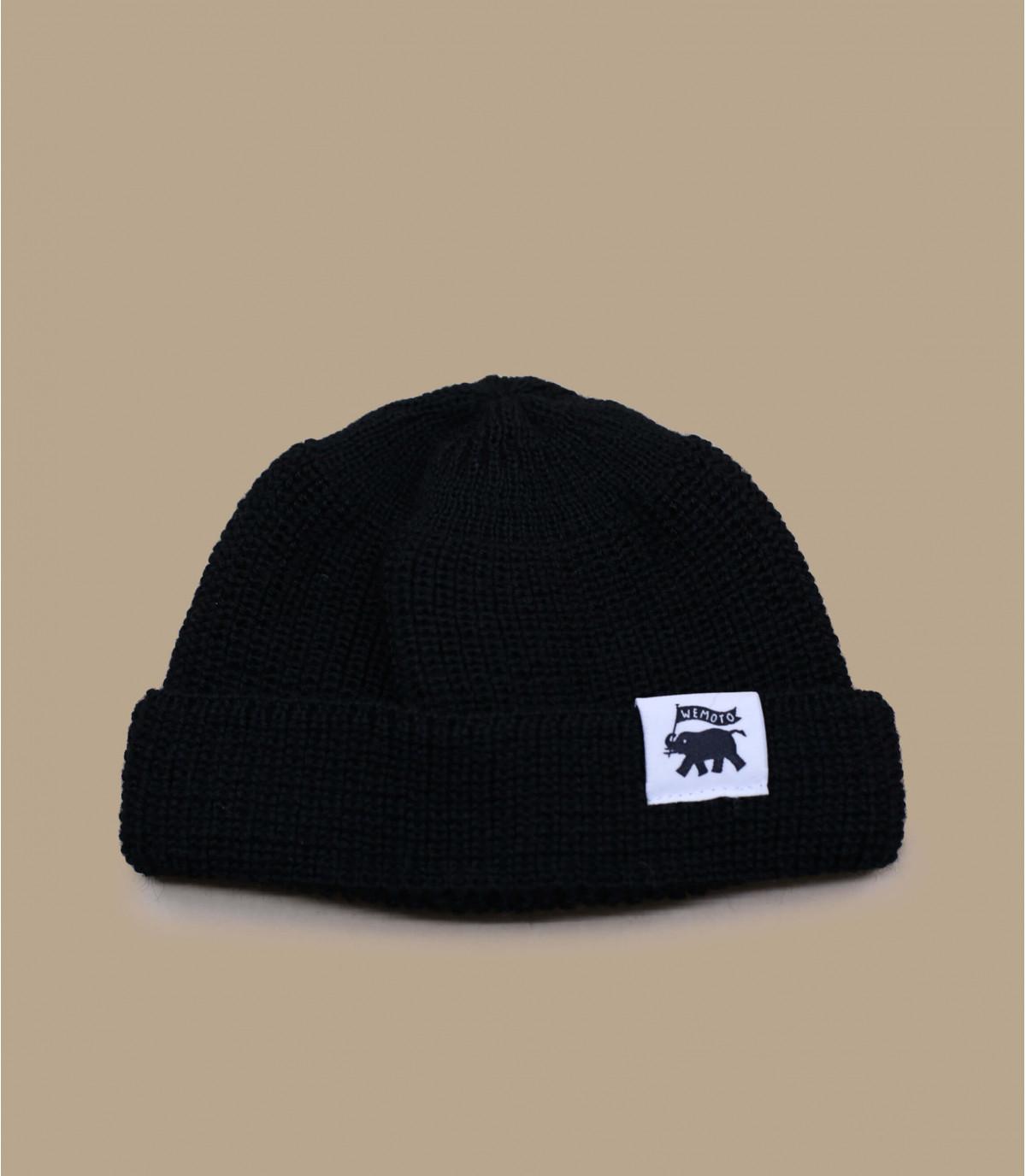 Docker Mütze schwarz Wolle