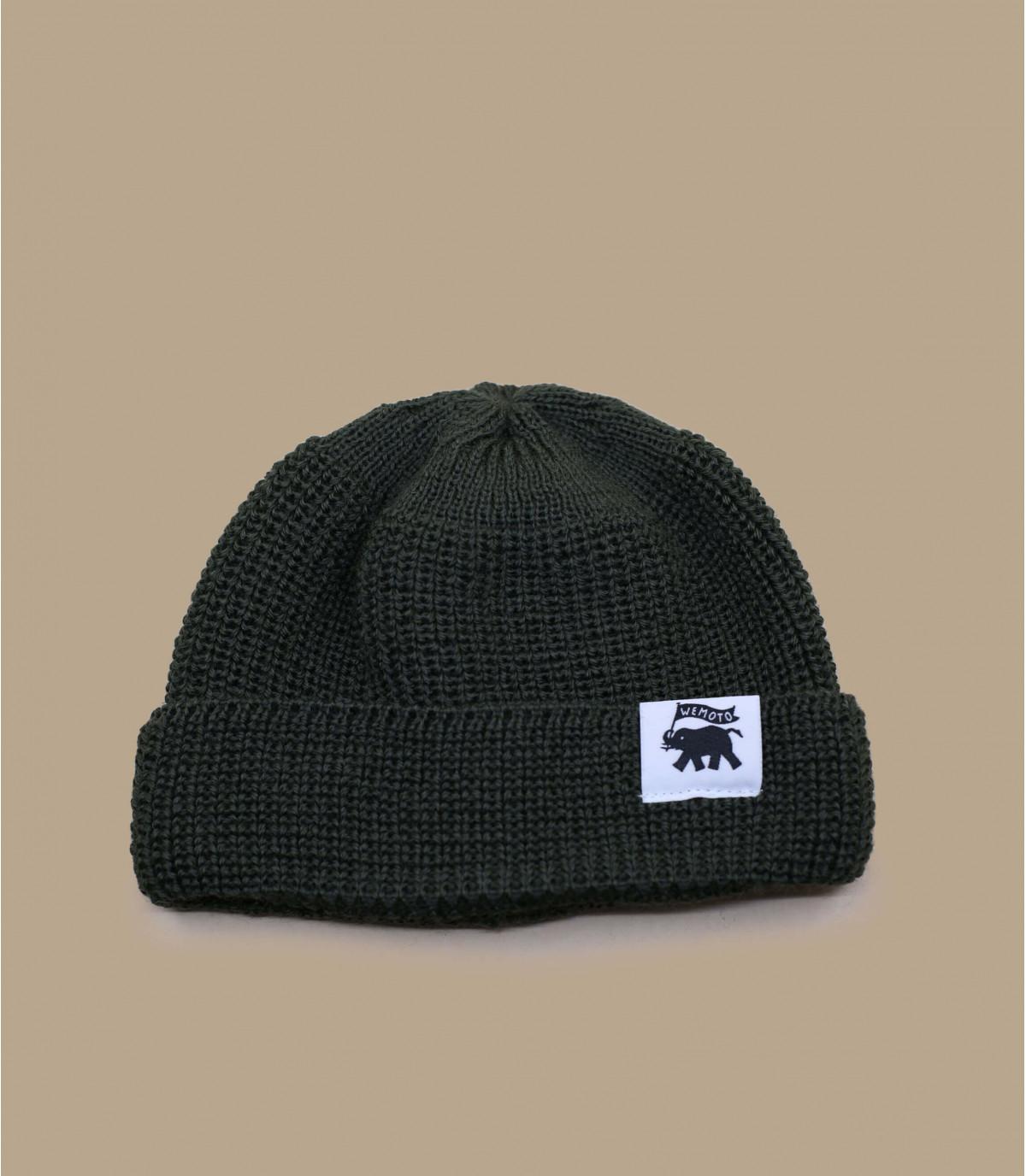 Docker Mütze grün Wolle