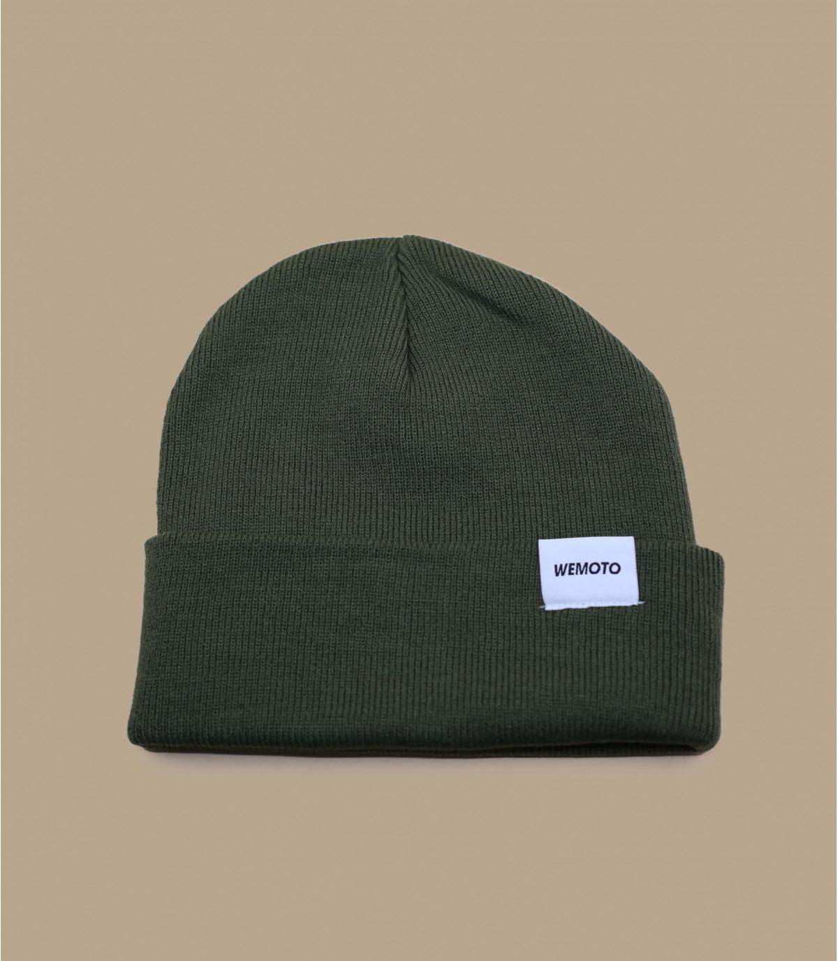 Mütze mit Rand grün Wemoto