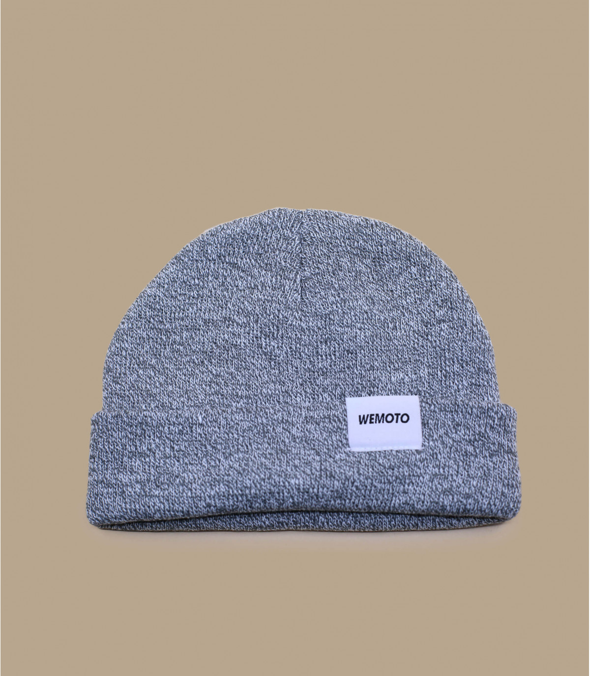 Mütze mit Rand grau Wemoto