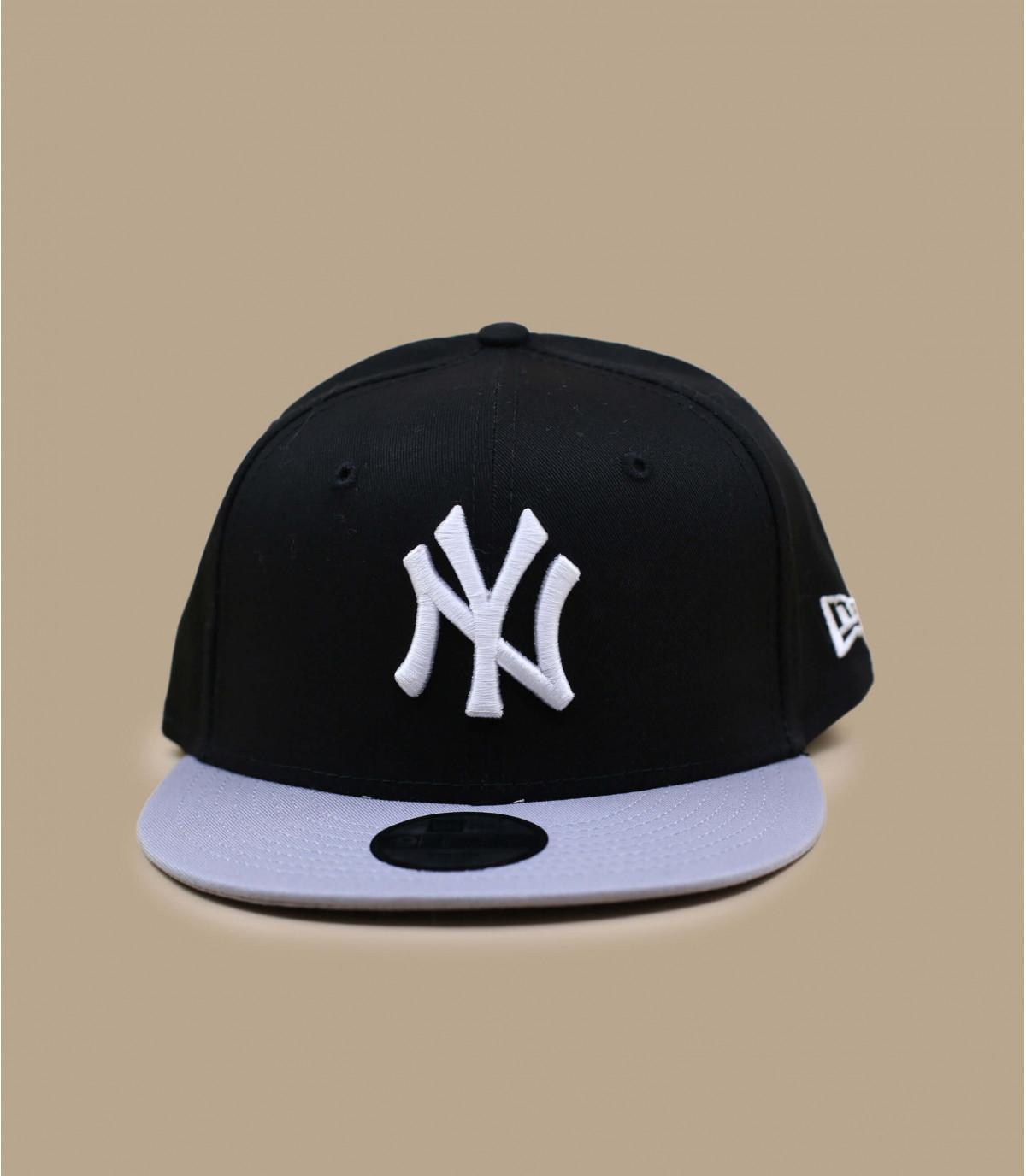 Cap NY Kinder schwarze grau