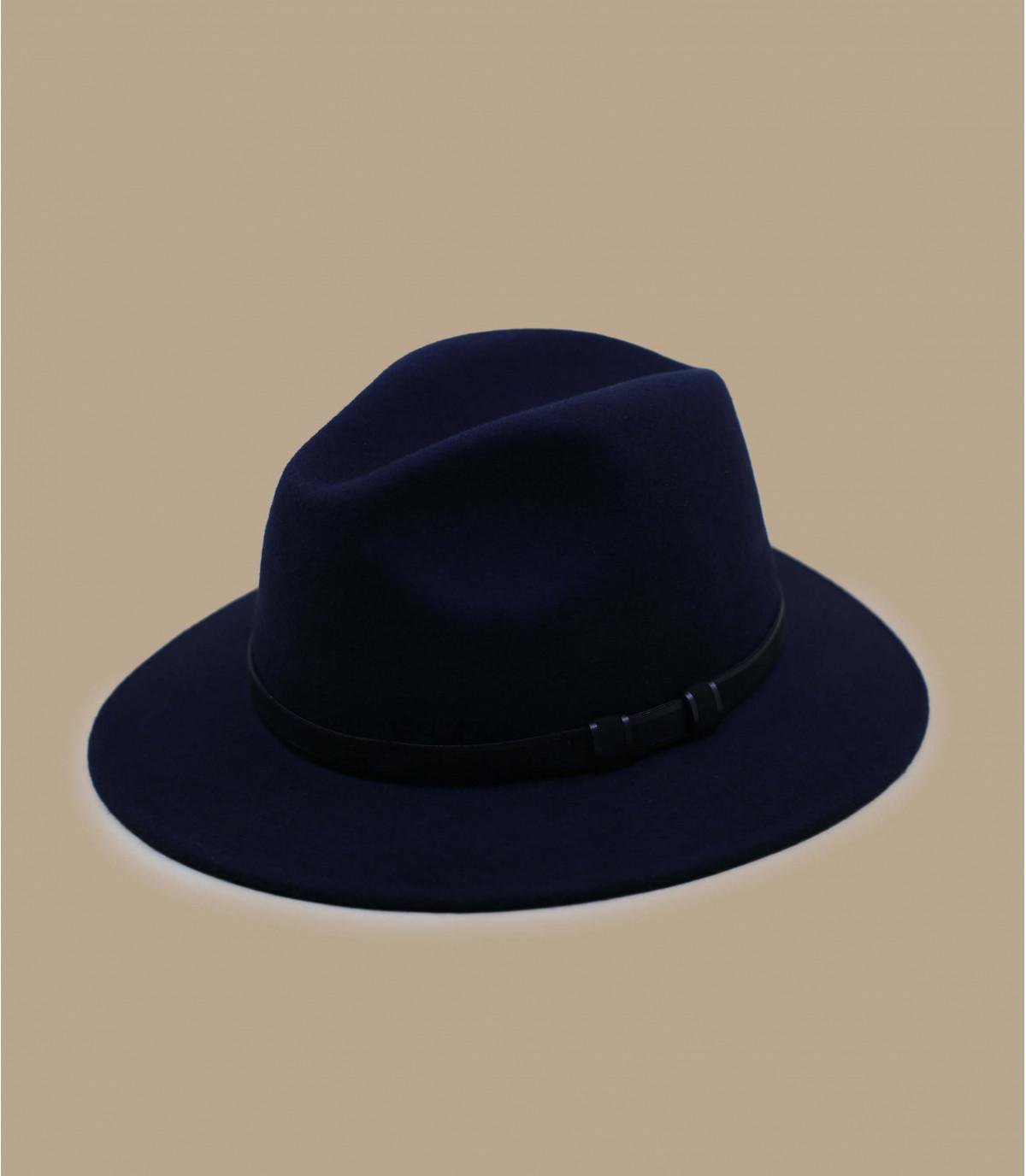 Fedora blau Wolle