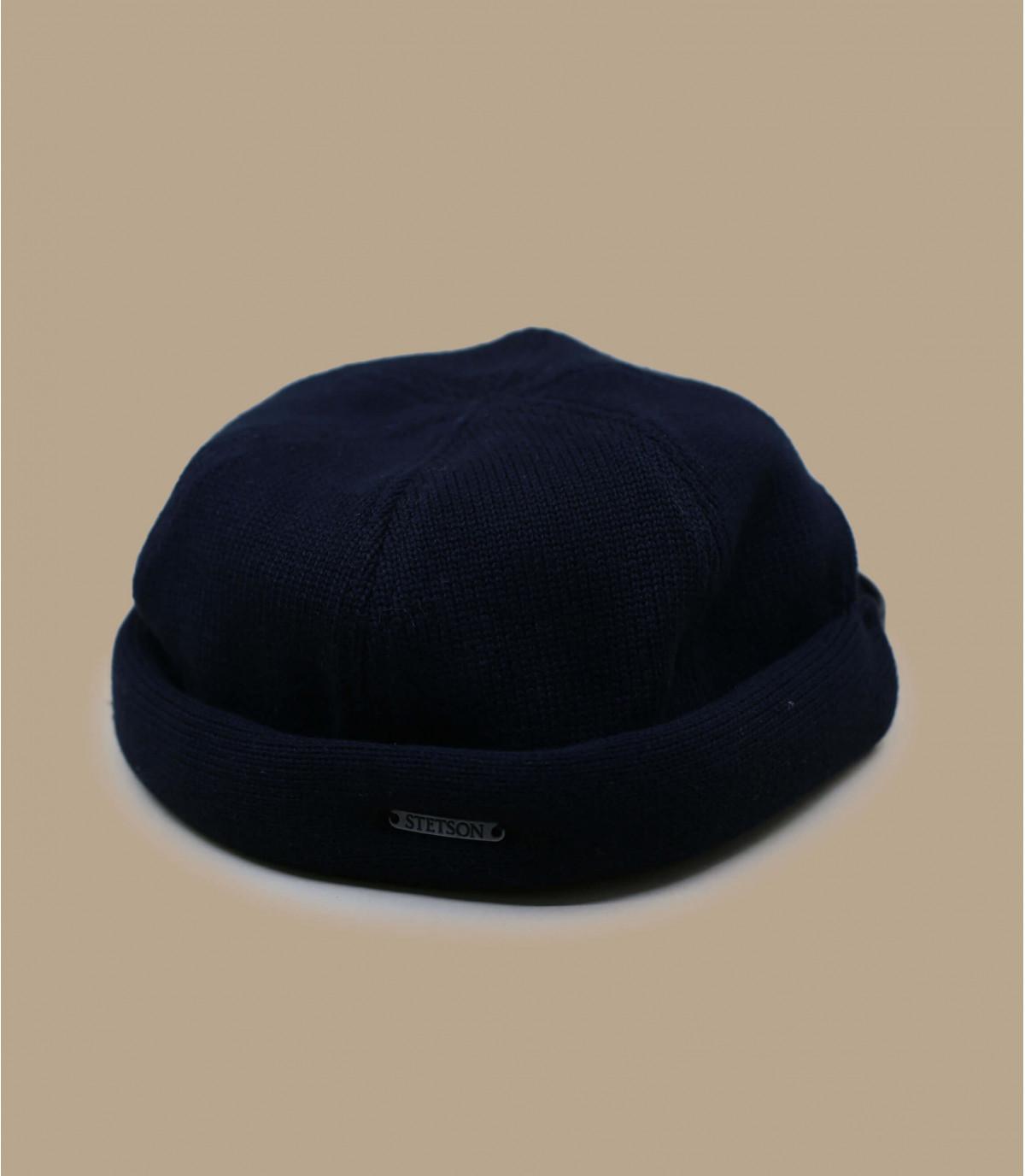 Docker Mütze Baumwolle schwarz