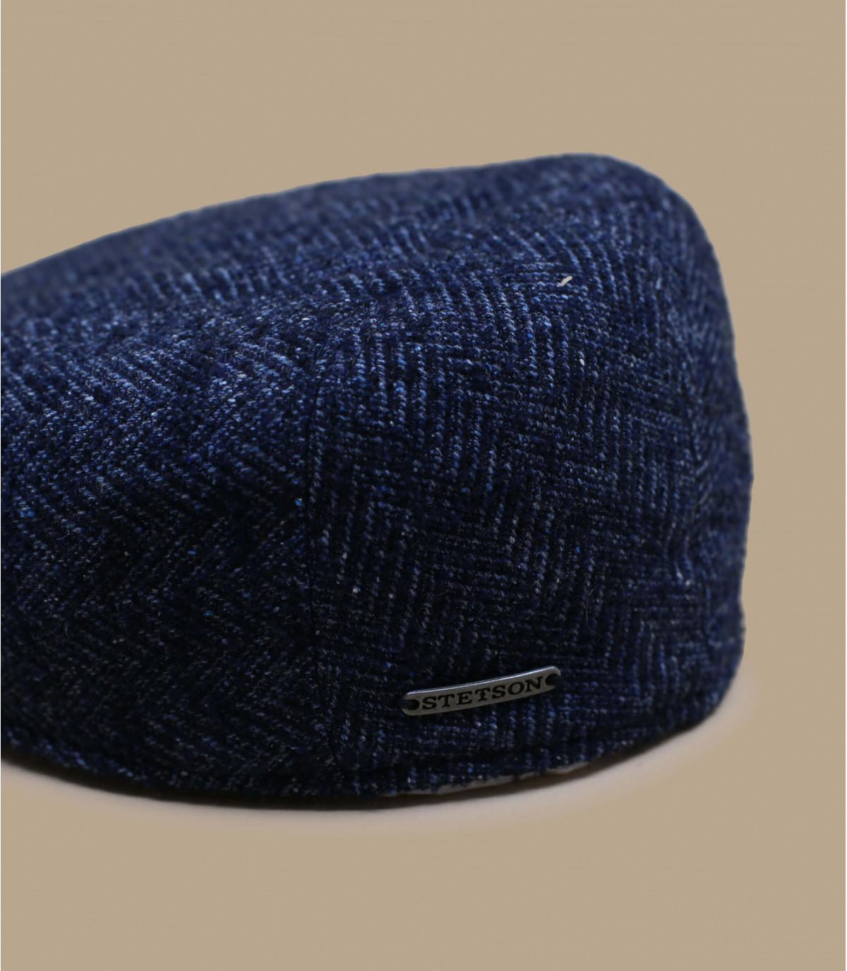 Details Ivy Cap Virgin Wool blue herringbone - Abbildung 2