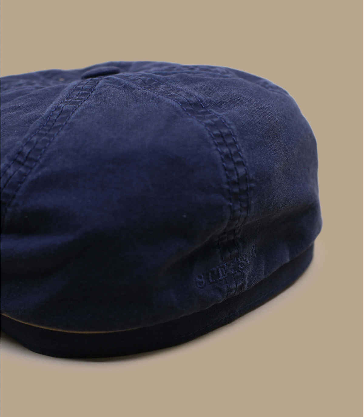Newsboy Cap Bio-Baumwolle blau