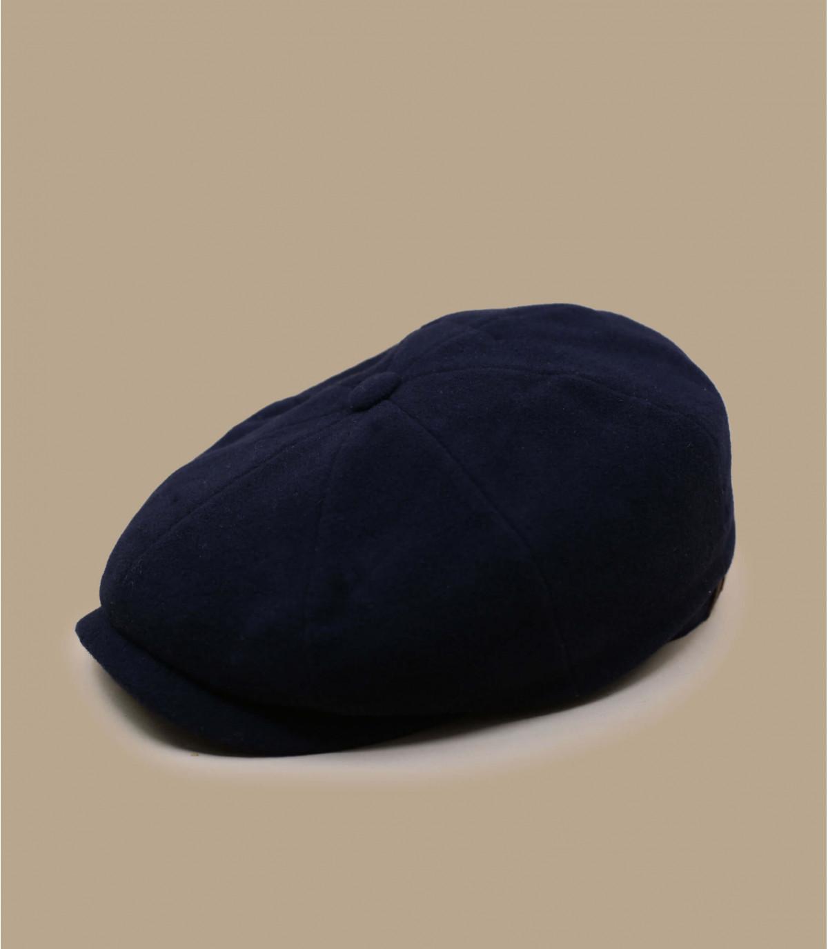Newsboy Cap blau Wolle