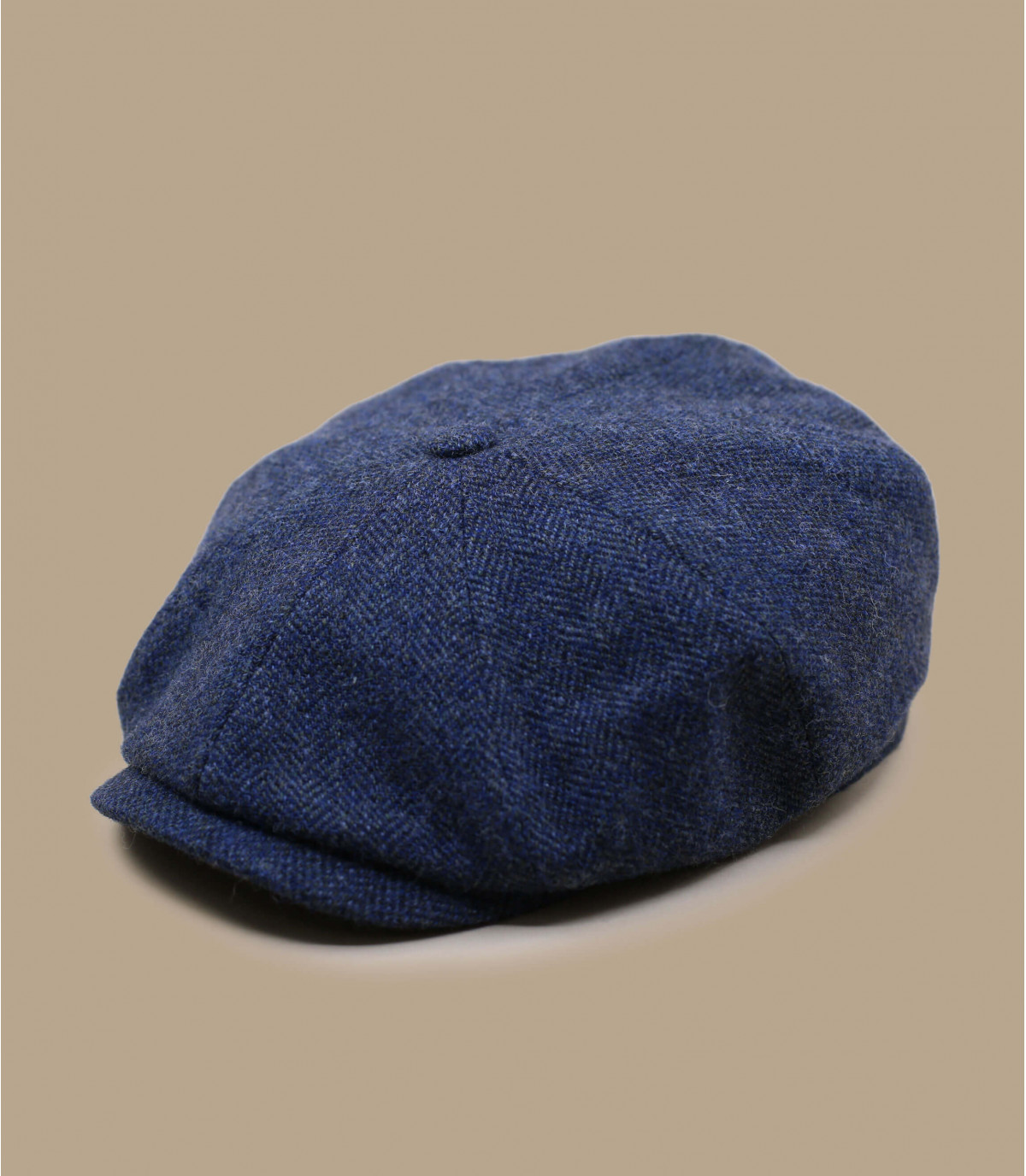 Ballonmütze blau Wolle