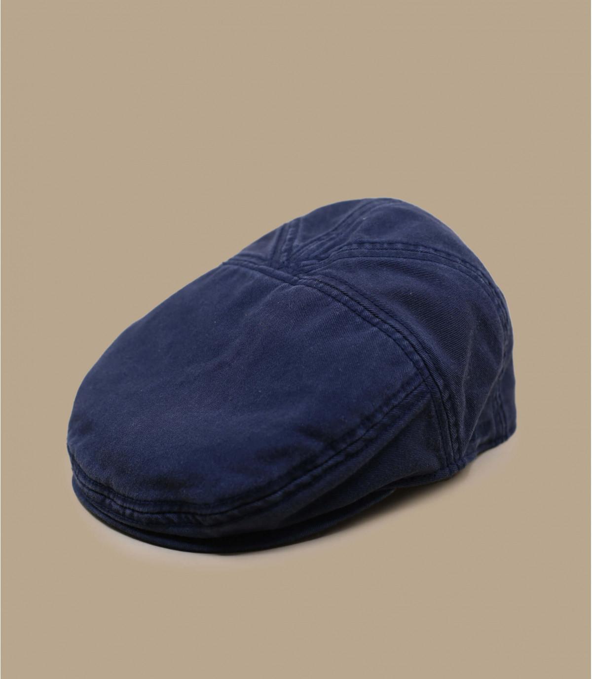 Flatcap Baumwolle marineblau